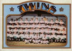1972 Topps Baseball Cards      156     Minnesota Twins TC